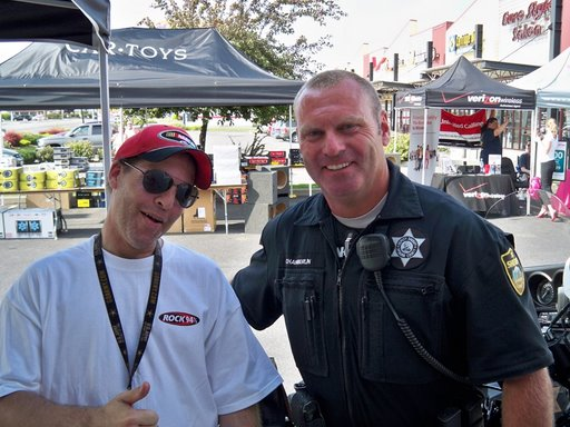 Deputy Craig with Geoff Scott heating it up at CRTOYS